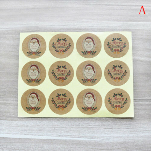 60xchristmas label sealing adhesive sticker craft wrapping gift handmade diy Pip