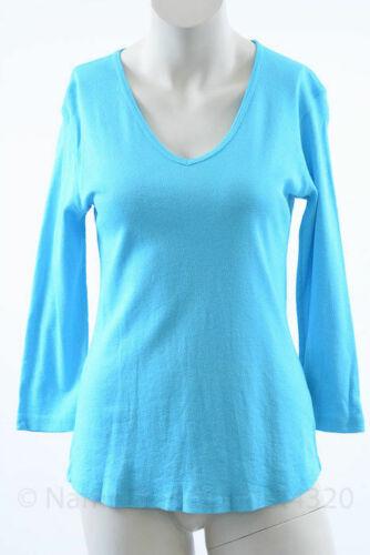 Michael Stars M030 Maternity flower shine 3//4 sleeve deep v top shirt NEW $60