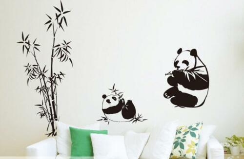 Cute Panda Bamboo Pattern Removable Wall Stickers Decal Kids Home Decor USA