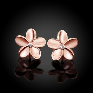 24k-Gold-Tri-Color-Plated-White-Gold-Plated-Plumeria-CZ-Stud-Earrings