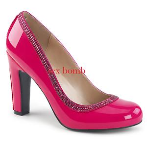 Descuento de liquidación Sexy DECOLTE' tacco 10 dal 39 al 46 ROSA ACCESO LUCIDO scarpe Fashion GLAMOUR !