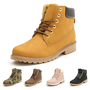 Women S Winter Leather Work Boots Outdoor Waterproof Snow