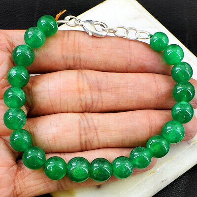 "260.00 Cts Earth Mined 7/"" Long Ruby Emerald /& Sapphire Beads Bracelet JK 02E225"