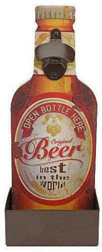 Wandflaschenöffner Flaschenöffner Kapselheber Öffner Bieröffner Bier Beer