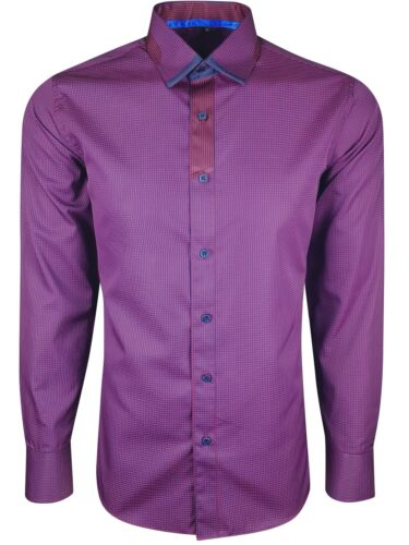 MENS STRIPE /& CHECK TRIM SHIRT LONG SLEEVE FORMAL DRESS CASUAL £16.99 400