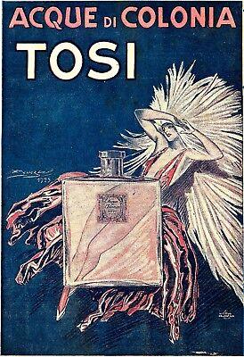 Mauzan AL- ACQUE COLONIA TOSI-MI-Profumo-Moda-Donna eros liberty Pubblicità 1925