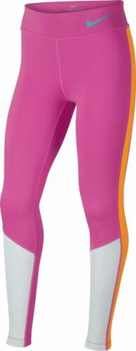 Nike Mädchen Sport-Leggings Fitnesshose Trainingshose G NIKE NK TROPHY pink grau