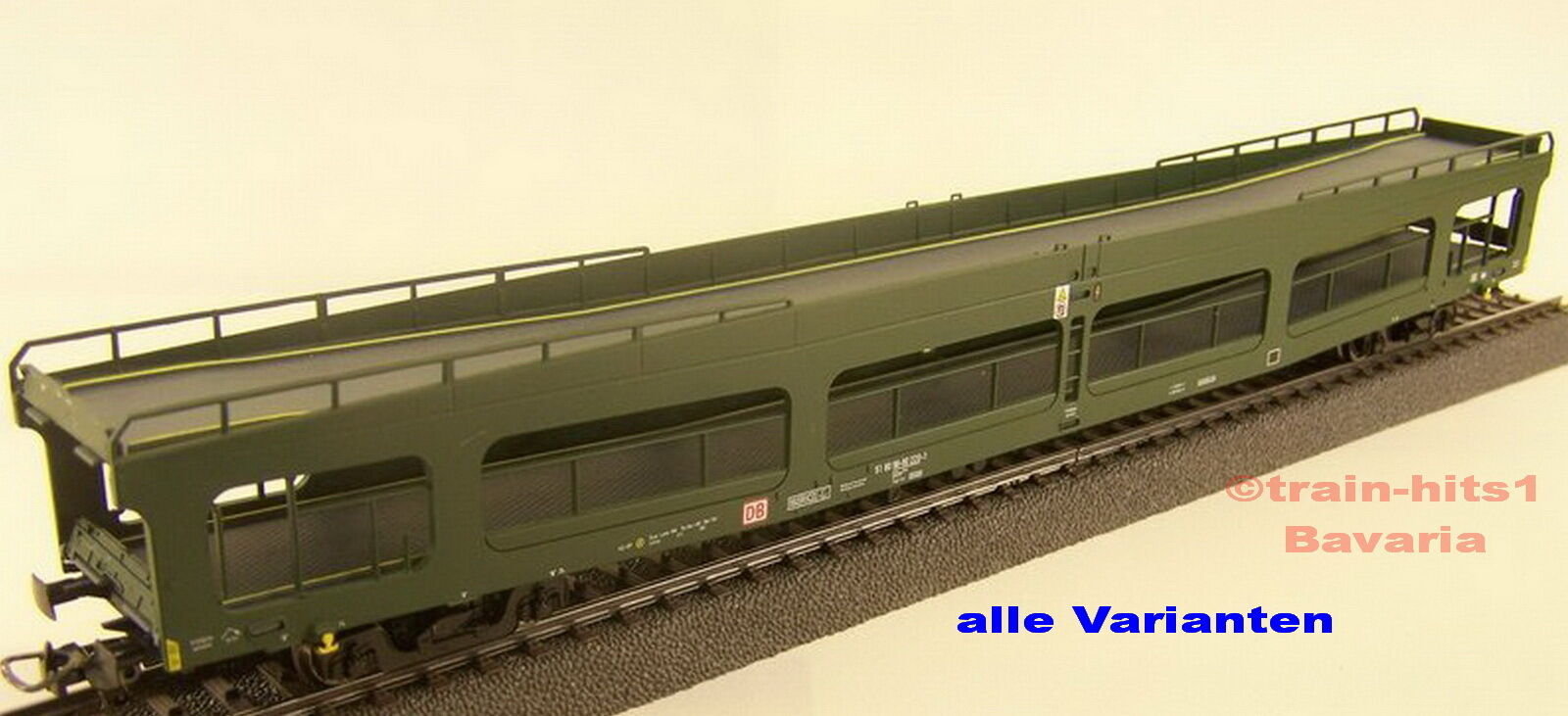 Heris h0 ALL TYPES CAR TRANSPORT WAGON DDM 916 DB DR green red bluee Ep. IV V NEW