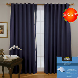 cheap window door curtains treatment panel thermal blackout drape living room ebay. Black Bedroom Furniture Sets. Home Design Ideas