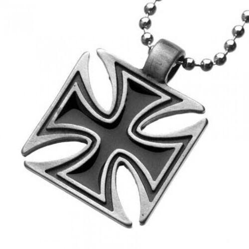 mit Kugelkette Iron Cross Anhänger Eisernes Kreuz Halskette