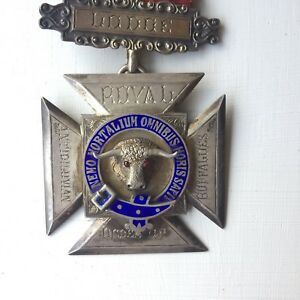 Antique Masonic RAOB Jewel Sterling Silver Medal - Prince Of Wales Lodge 1899