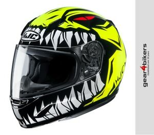 HJC CL-Y Zuky Motorcycle Helmet Scooter Fluo Yellow Youth Kids Ladies CLY CL Y