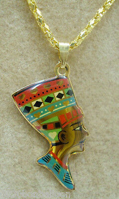 handmade enameled ankh egyptian//egypt necklace pendant      102