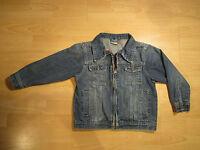 Jeansjacke Topolino Gr. 116 blau Doppelreißverschluss Brusttaschen