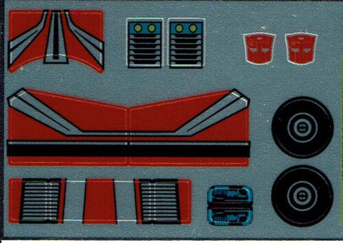G1 Autobot Backstreet REPRO Etichette//Adesivi Transformers GENERATION 1