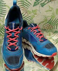 REEBOK-ZIG-TECH-BLUE-PINK-SNEAKERS-WALKING-RUNNING-WORK-SHOES-US-WOMENS-SZ-10