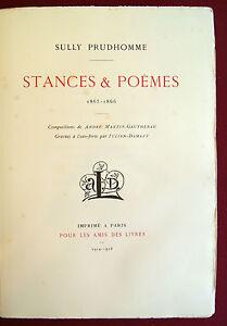 Détails Sur Sully Prudhomme Stances Et Poèmes 1914 Tiré à 100 Exemplaires