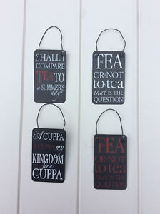 Details About Mini Funny Shakespearean Quotes About Tea Cuppa Saying Black Metal Signs 5x8cm