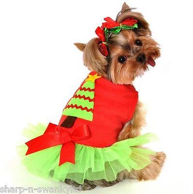 Santa Top Christmas Unicorn Tutu Skirt Pet Dog Dress Puppy Cat Clothes Outfits