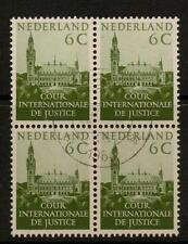 NETHERLANDS SGJ25 1951 6c GREEN BLOCK OF 4 FINE USED