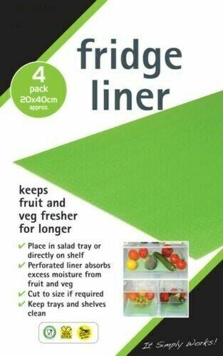 4 X Réfrigérateur tiroir étagère Plateau Armoire Liners Tapis Tenir Fruits Légumes Salade Fresh Mat