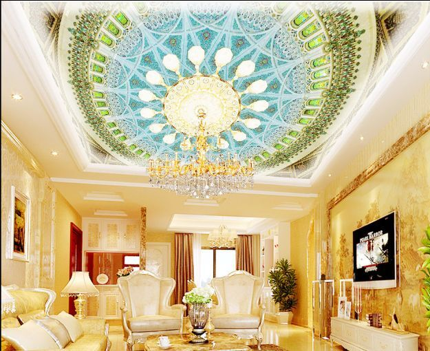 3D Flowery Pure 8 Ceiling WallPaper Murals Wall Print Decal Deco AJ WALLPAPER GB