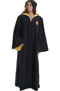 Harry Potter Hufflepuff Of Hogwarts Robe Cloak Halloween Cosplay