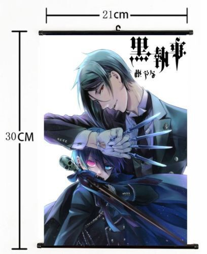 Anime Black Butler Wall Poster Scroll Home Decor Cosplay s806