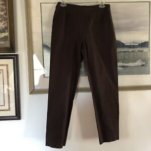 Chicos Womens Sz 0 Brown Ankle Pants New A1420