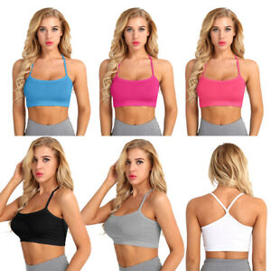 Verano-Mujer-Casual-corto-Camiseta-sin-mangas-Blusa-Chaleco-Delgado-Color-solido-Crop-Top-T-Shirt