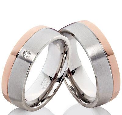 Eheringe Trauringe Mit Echtem Diamant Verlobungsringe Mit Lasergravur B138 Verkaufsrabatt 50-70%