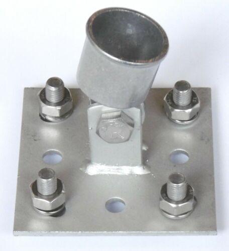 Streben-platte Strebe-Halter Streb-rohr mit Einschlaghülse Bodenhülse 34mm Zaun