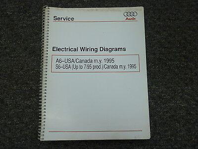 1995 Audi A6 S6 Quattro Sedan Wagon Electrical Wiring ...