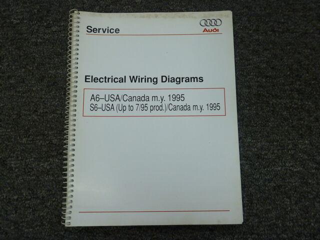 1995 Audi A6 S6 Quattro Sedan Wagon Electrical Wiring Diagram Manual 2 2l 2 8l