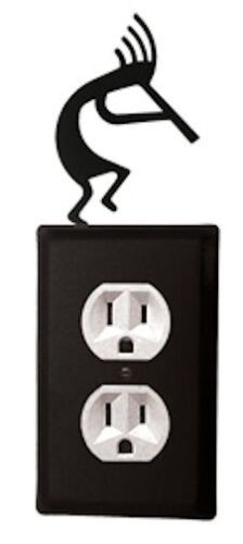 Wrought Iron KOKOPELLI Single Electrical Outlet Covers New Black Southwest Decor