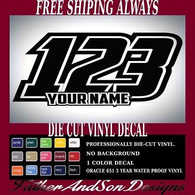 Numbers Racing Style Motorcross Bike Plate Jersey 2 Digit Vinyl Decal Sticker
