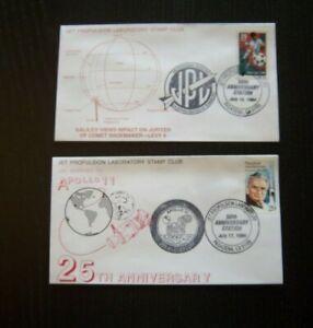 Jet Propulsion Laboratory Stamp Club 50th Anniversary Lot / 2 JPL Pictorial 1994