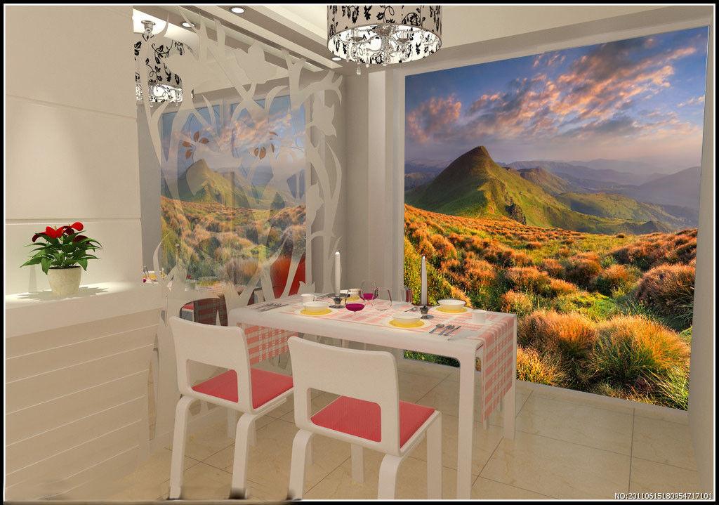 3D Hügel Wiese Wolken 8 Tapete Wandgemälde Tapete Tapeten Bild Familie DE Summer  | Billiger als der Preis  | Einfach zu spielen, freies Leben  | Kaufen Sie online