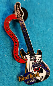 Manchester-Casino-Grand-Apertura-4-Assi-2002-Chitarra-Hard-Rock-Cafe-Pin-Le