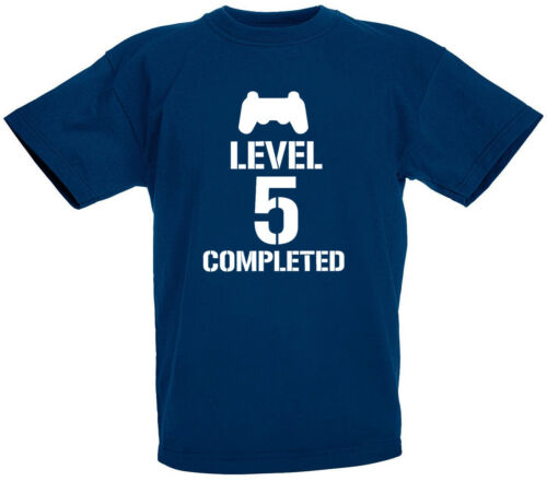 Level 5 Completed 5th Birthday Gifts Present ideas T-Shirt For 5 Year Old Boys