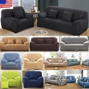 1-4 Seats Slipcover Sofa Covers Spandex Stretch Couch Cover  Furniture Protector