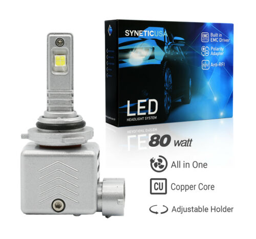 Syneticusa:9005 CREE-XHP50 LED Headlight Bulb Conversion Kit Hi-Beam 6000K White