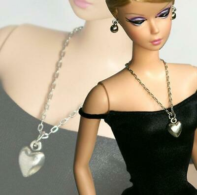 "Handmade doll jewelry necklace earrings fits 11.5/"" dolls #108"