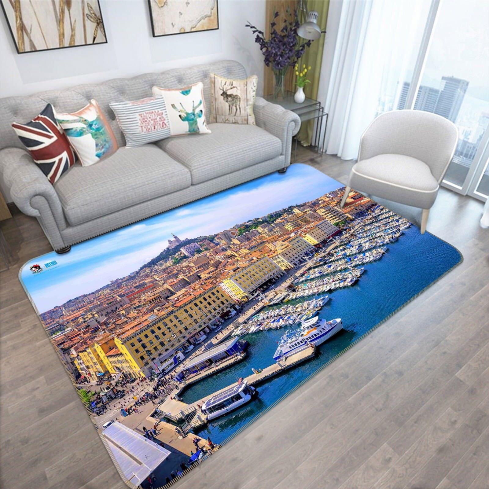 3D Coastal City 67 Non Slip Rug Mat Room Mat Quality Elegant Photo Carpet AU