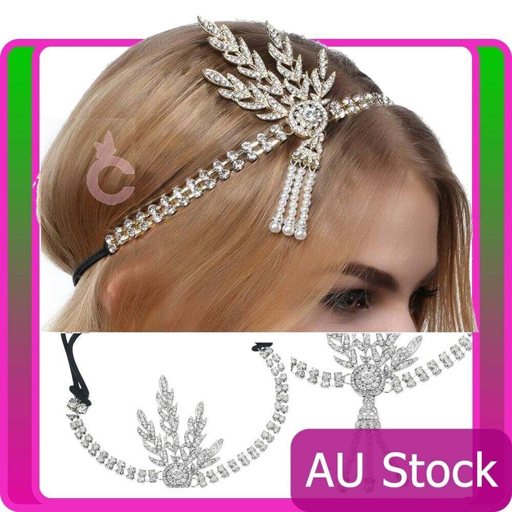 20s 1920 Headband Vintage Bridal Great Gatsby Headpiece Costume Accessorries
