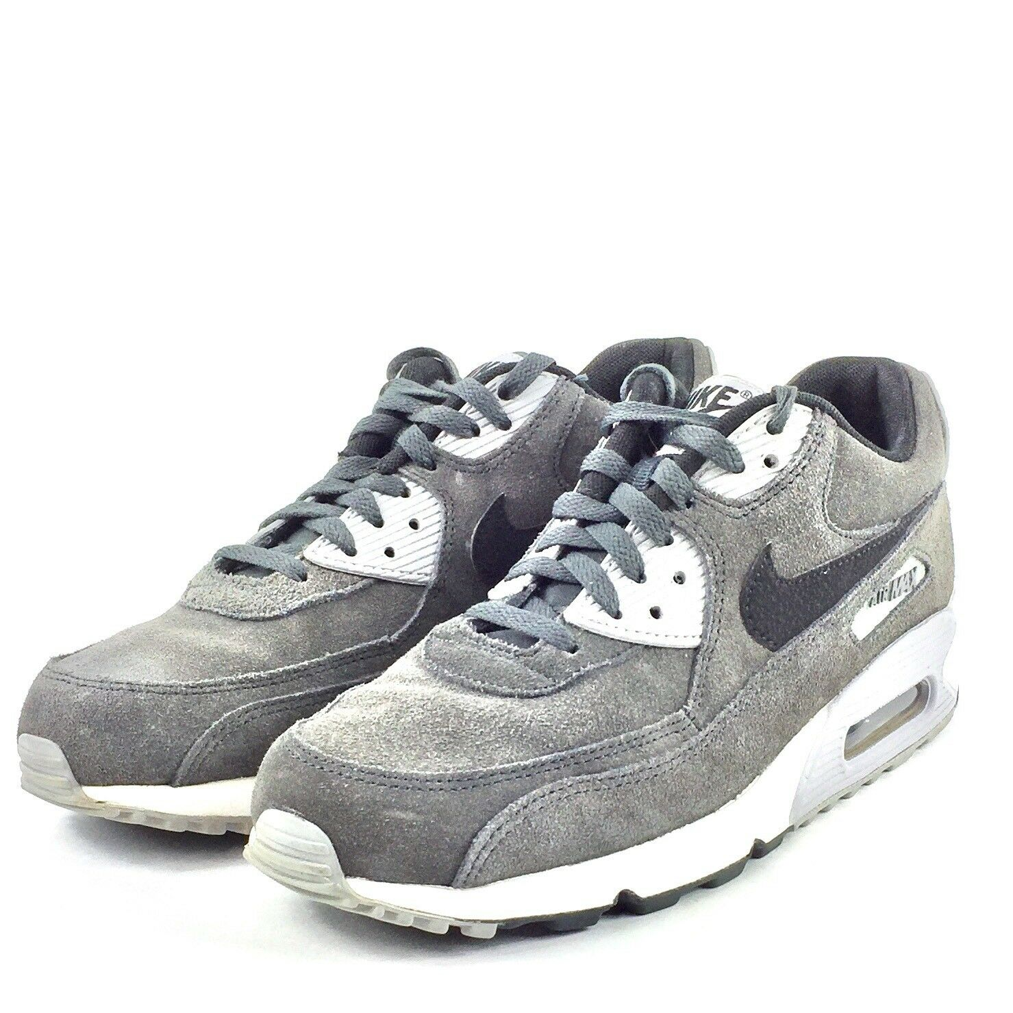 Nike Air Max 90 Mens Running Shoes Wolf Grey Suede 652980 012 Sz 8