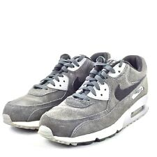 Mens Nike Air Max 90 Leather Anthracite Black Wolf Grey Athletic Sneakers Running Shoes 652980 012 652980 012