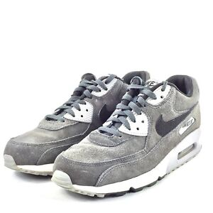best sneakers 38e96 8d5cf Nike Air Max 90 Mens Running Shoes Wolf Grey Suede 652980 012 Sz 8 ...