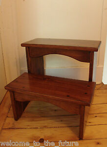 16 Quot Tall Handcrafted Heavy Duty Step Stool Solid Wood