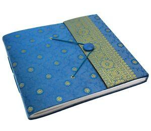Fair Trade Handmade Extra Large Sari Photo Album Scrapbook Cerise